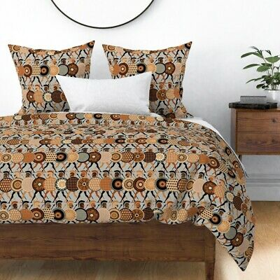 Warriors Myths Greek Roman Ancient War Fighter Sateen Duvet Cover by Roostery