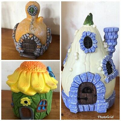 3 Fairy House Themed Latex Moulds