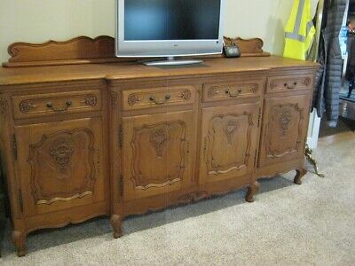 Antique French Country Oak Buffet
