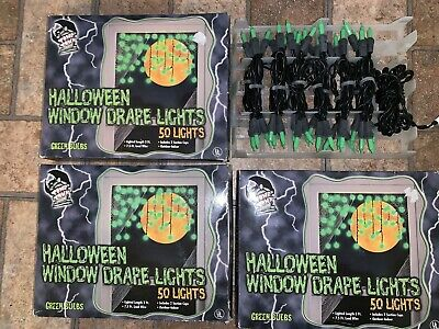 3 Boxes Halloween Icicle Lights Halloween Party Lights Curtain Lights 50 CT each