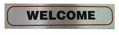 Weatherproof Information Signs 'Welcome' Neat Durable Door/Wall Notice Labels