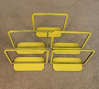 "Lot of 5 Metal Yellow Counter Top Store Sale Price Sign Display Size 5 1/2"" x 7"""