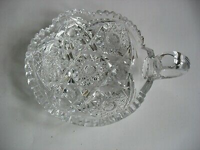 Vtg ABP American Brilliant Period Cut glass 1 handle NAPPY