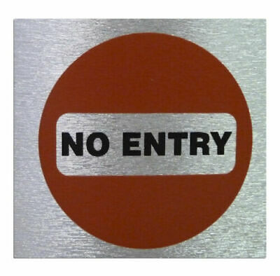 Weatherproof Square Info Signs 'No Entry' Neat Durable Door/Wall Notice Labels