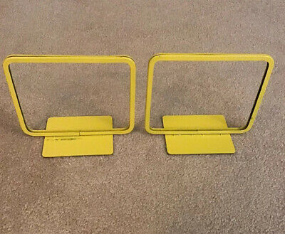 "Lot of 2 Metal Yellow Counter Top Store Sale Price Sign Display Size 5 1/2"" x 7"""