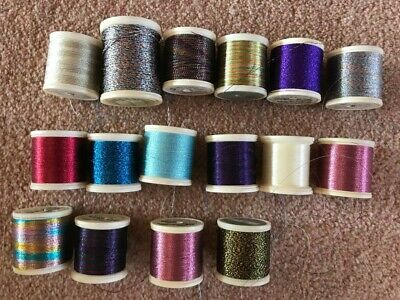 Job Lot Of Madeira Metallic Thread Sewing Embroidery Needlework Tapestry
