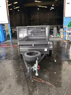 6x4high side box with trailer,600mm cage FREE 12MONTH REGO & SPARE WHEEL
