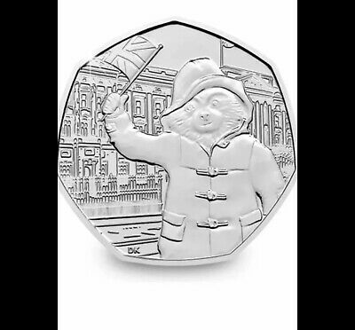PADDINGTON BEAR AT THE PALACE 50P fiFty pence uncirculated from SEALED BAGS rare
