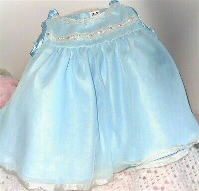 Special Pretty Aqua Vintage Toddler Dress With Lace Trim
