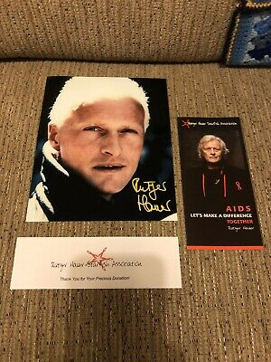 Rutger Hauer signed photo Blade Runner bought from Starfish charity