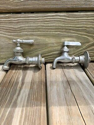 VINTAGE metal FAUCET HANDLE Cold hot  ANTIQUE SINK BATHROOM FARMHOUSE lot craft