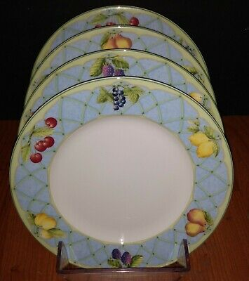 Set of 4 Mikasa Optima Fruit Rapture Fine China Strong Salad Plates