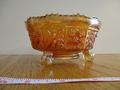 Carnival Glass Butterfly & Berry Marigold Master Berry Bowl Northwood Nice!