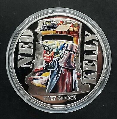2015 Niue Ned Kelly: The Siege  25g silver (.925) $1 Proof coin