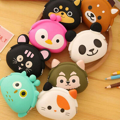 Womens Girls Silicone Animal Small Mini Wallet Key Coin Purse Pouch Holder