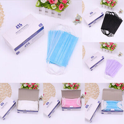 50PCS/Pack Disposable Non Woven Face Mask 2 Layer Medical Earloop Face Mask