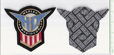 Harley Davidson embroidered shield patch