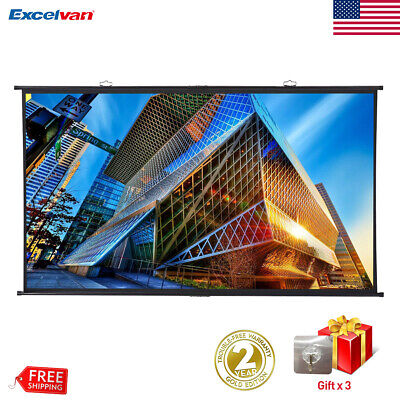 "120"" Portable Projector Screen 16:9 4K Home Theater Outdoor 3D Movie Projection"