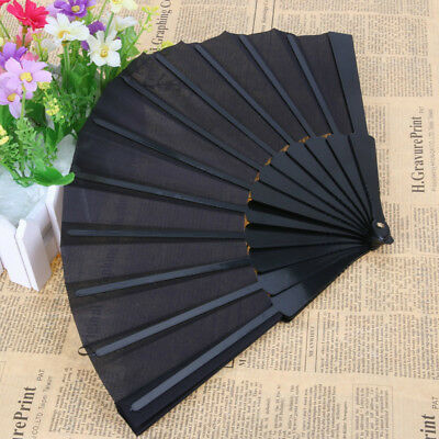 Chinese Style Fabric Folding Hand Held Fan Dance Wedding Party Decor Gift
