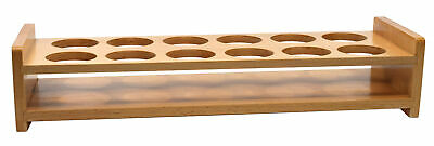 """Wooden Bottle Stand - Fits 12 Bottles, up to 1.75"""" Diameter - Eisco Labs"""