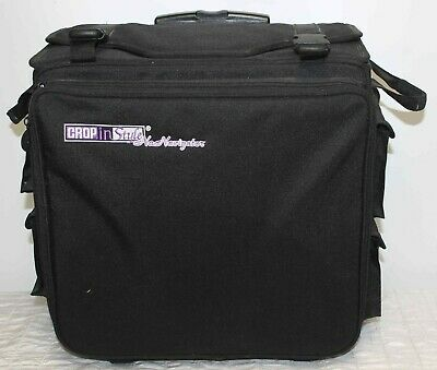Crop n Style Scrapbook Craft Tote Navigator Wheeled Rolling Black Travel Storage