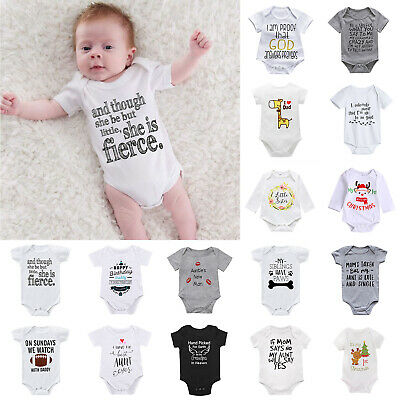 Newborn Infant Baby Kids Boy Girl Cotton Romper Bodysuit Jumpsuit Clothes Outfit