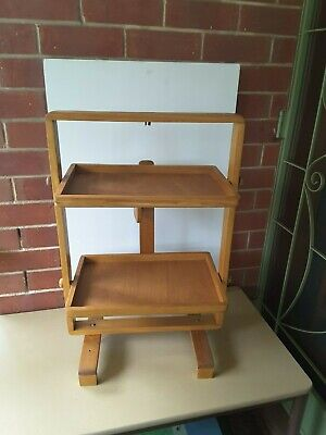 VINTAGE FOLDING  butlers Tray timber wooden TWO TRAYS