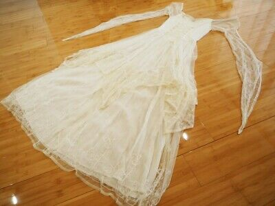 PEACE ANGEL Wedding Bell Sleeve Dress Tree of Life Boho S M 10 12 Medieval Gown