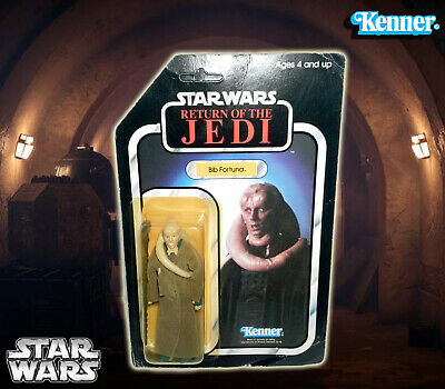Vintage Star Wars Return of the Jedi Bib Fortuna 77 back Figure MOC 1983 Kenner
