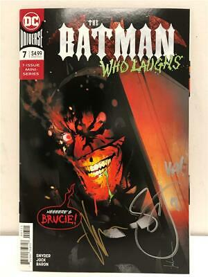 NYCC 2019 The BATMAN WHO LAUGHS # 7 Signed by Scott Snyder & JOCK with COA