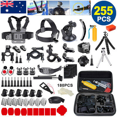 255pcs GoPro Hero 7 6 5 4 3 2 Accessories Pack Case Chest Head Floating Monopod