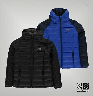 Boys Girls Karrimor Hooded Full Zip Hot Rock Insulated Jacket Sizes from 7 to 13