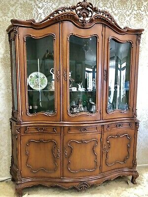 Display Unit on top of matching Sideboard – French Provincial style