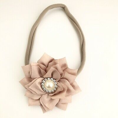 NUDE Baby Girl Toddler Girls Hair Bow Headband Hair Band Chiffon Flower