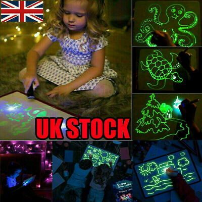 Magic Drawing Board Fluorescent Light Retaining Painting Graffiti Board For Kids