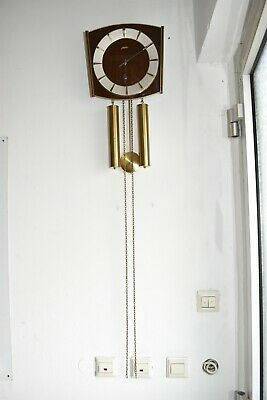 Old Wall Clock/Pendulum Clock Junghans with Weights and Pendulum Defective/nr2
