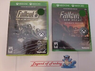NEW Fallout 3 Game of the Year + New Vegas Ultimate Edition - Xbox One + 360 Lot