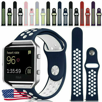 Replacement Silicone Sport Band Bracelet Strap Soft For Fitbit Blaze  with Frame