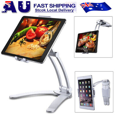 2 in 1 Tablet Stand Holder Desktop Wall Mount Stand for iPad Air iPhone Samsung