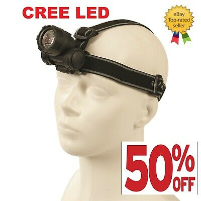 Led Head Torch Cree Super Bright Adjustable Angle Headlight Lamp Dickie Dyer