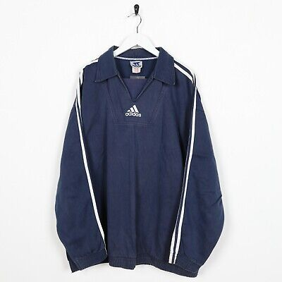 VINTAGE 90S ADIDAS Grand Arrière Logo Pull Beige Taille L
