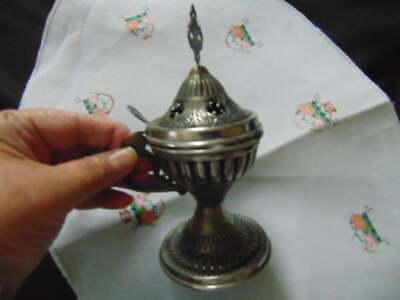 antique chalice with lid and dish