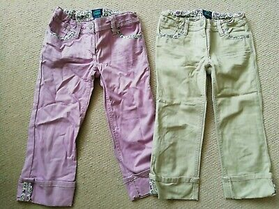 Girls Cropped Capri Trousers / Jeans MINI BODEN Age 10 Years Floral Trim