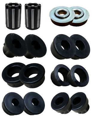 """Replacement Plastic Bushes And Bearings Wheels 35Mm, 20Mm, 16Mm, 12Mm, 1"""", 1/2"""""""