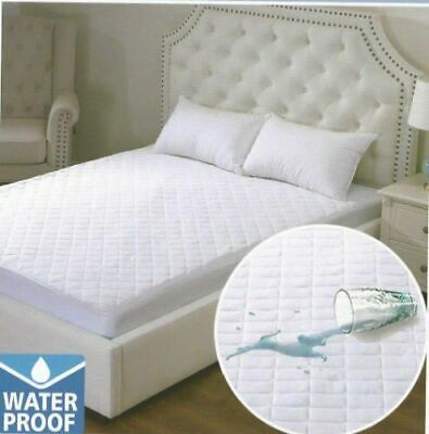 Waterproof Quilted Mattress Protector Pillow Cover Fitted Bed Wet Sheet all size