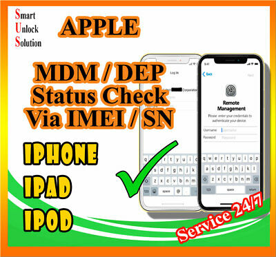 MDM (Mobile Device Management) Enrollment Status CHECK - DEP/MDM ALL iDevices