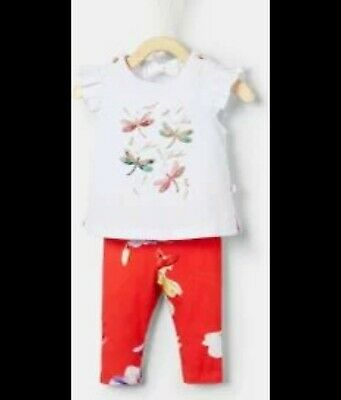Ted Baker baby girls Top And Leggings 0/3Months 2 piece