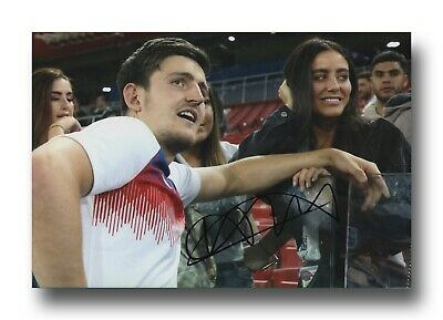 Harry Maguire Hand Signed 12X8 Photo - England Autograph - Football.