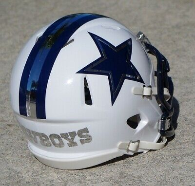 Dallas Cowboys Concept Speed Mini Football Helmet With Chrome Accent