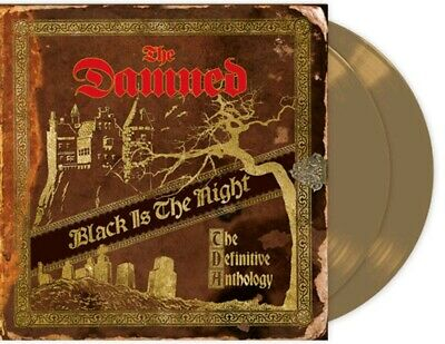 The Damned , x4 LP GOLD .vinyl . Black is the night , definitive Anthology